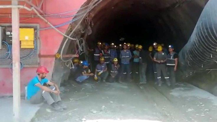 Bild von Maaş alamayan işçiler kendilerini madene kapattı
